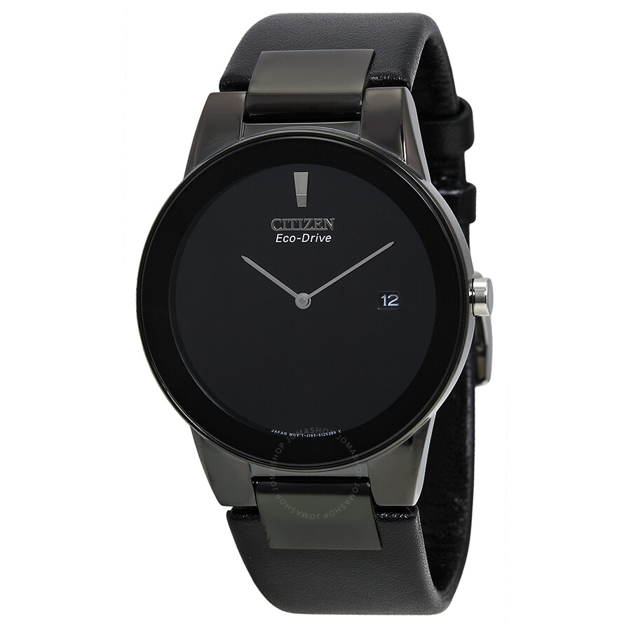 31841861254 Citizen Eco Drive Axiom Black Dial Black Leather Men s Watch