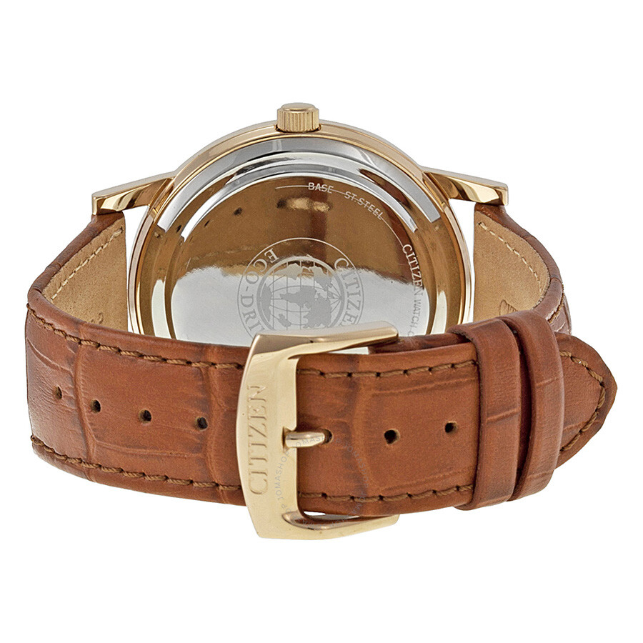 Leather Gmbh Contact Us Email Sales Mail: Citizen Eco Drive Black Dial Brown Leather Men's Watch