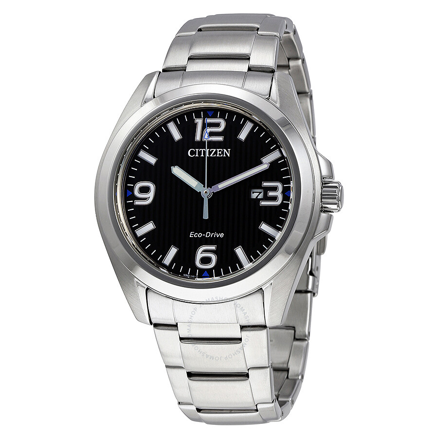 Citizen Eco-Drive Black Dial Stainless Steel Men s Watch AW1430-86E ... d83e302d6eab