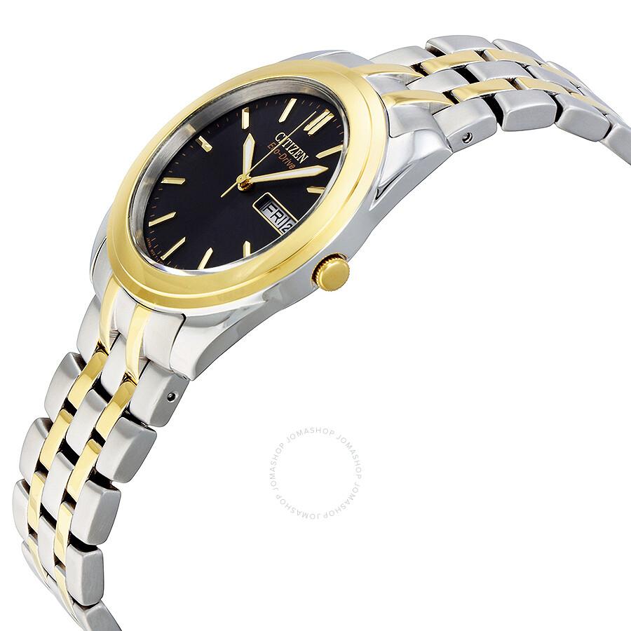 citizen eco drive black dial two tone men s watch bm8224 51e citizen eco drive black dial two tone men s watch bm8224 51e