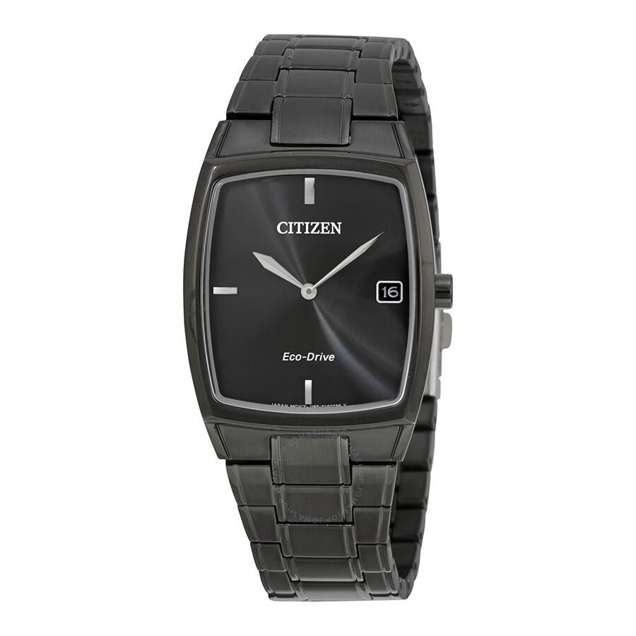 b46e18198bcec Citizen Eco-Drive Black Stainless Steel Men s Dress Watch AU1077-59H ...