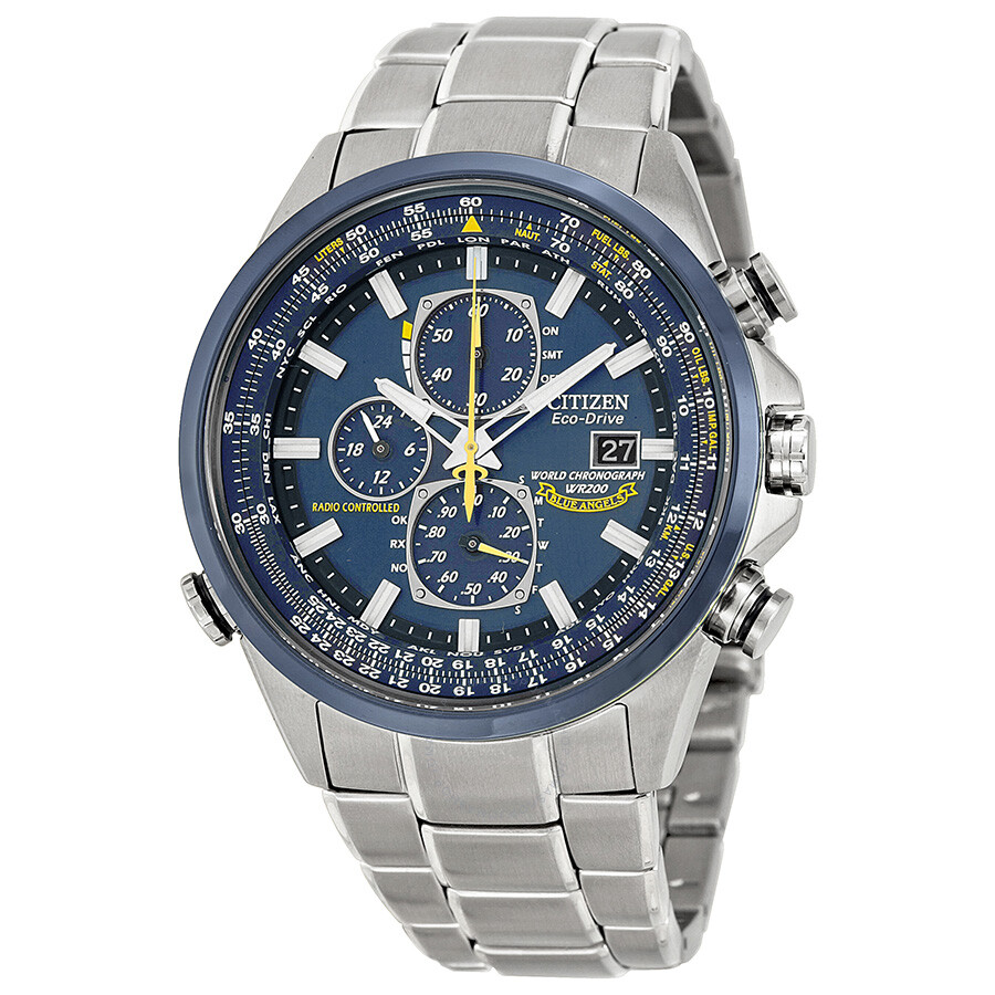 citizen eco drive blue chronograph s