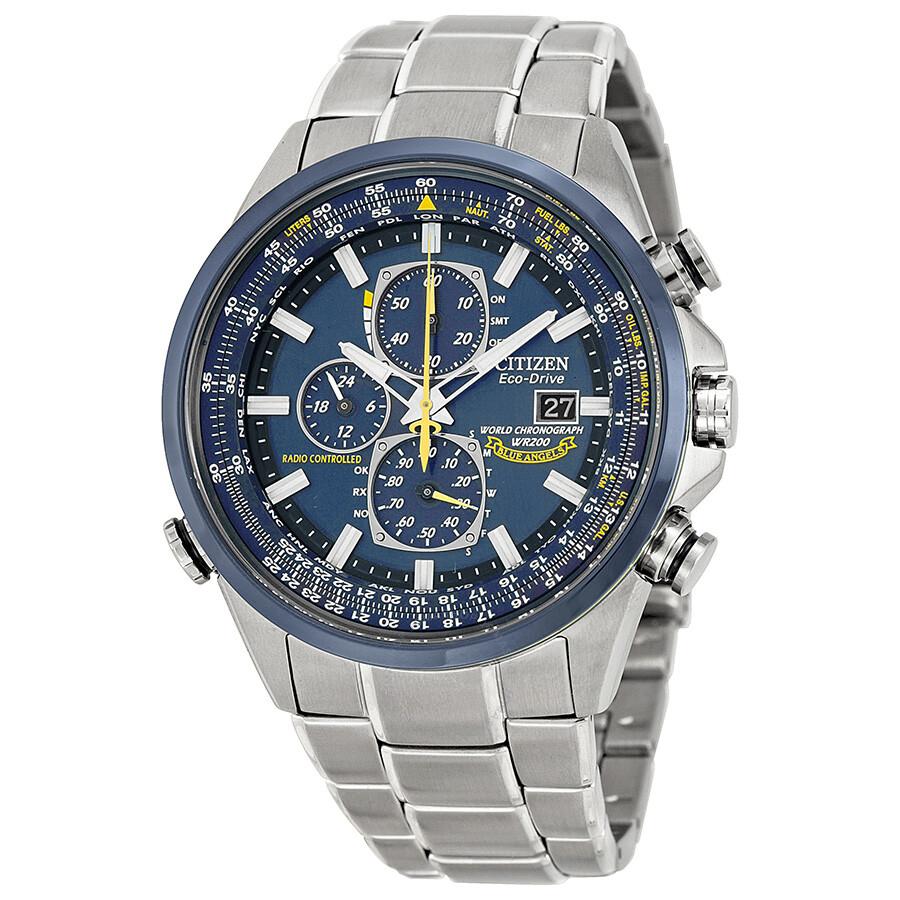 f5030654d Citizen Eco Drive Blue Angels Chronograph Men's Watch AT8020-54L ...
