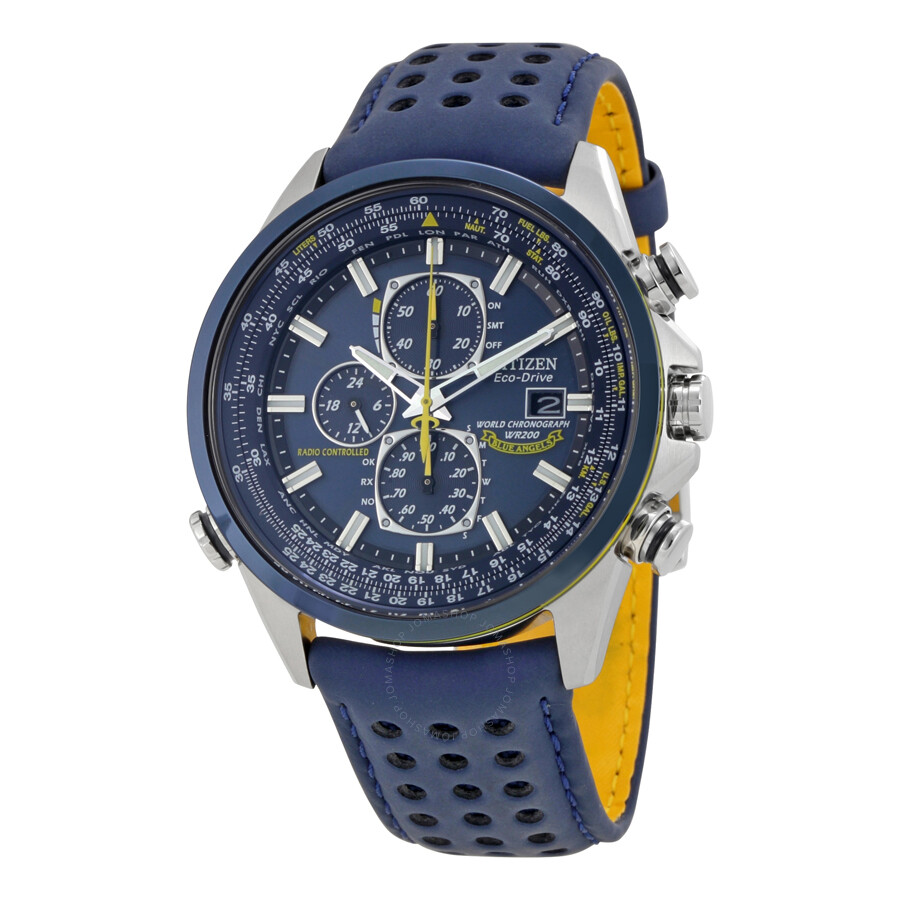 f15940d58cf Citizen Eco Drive Blue Angels World Chronograph Men s Watch