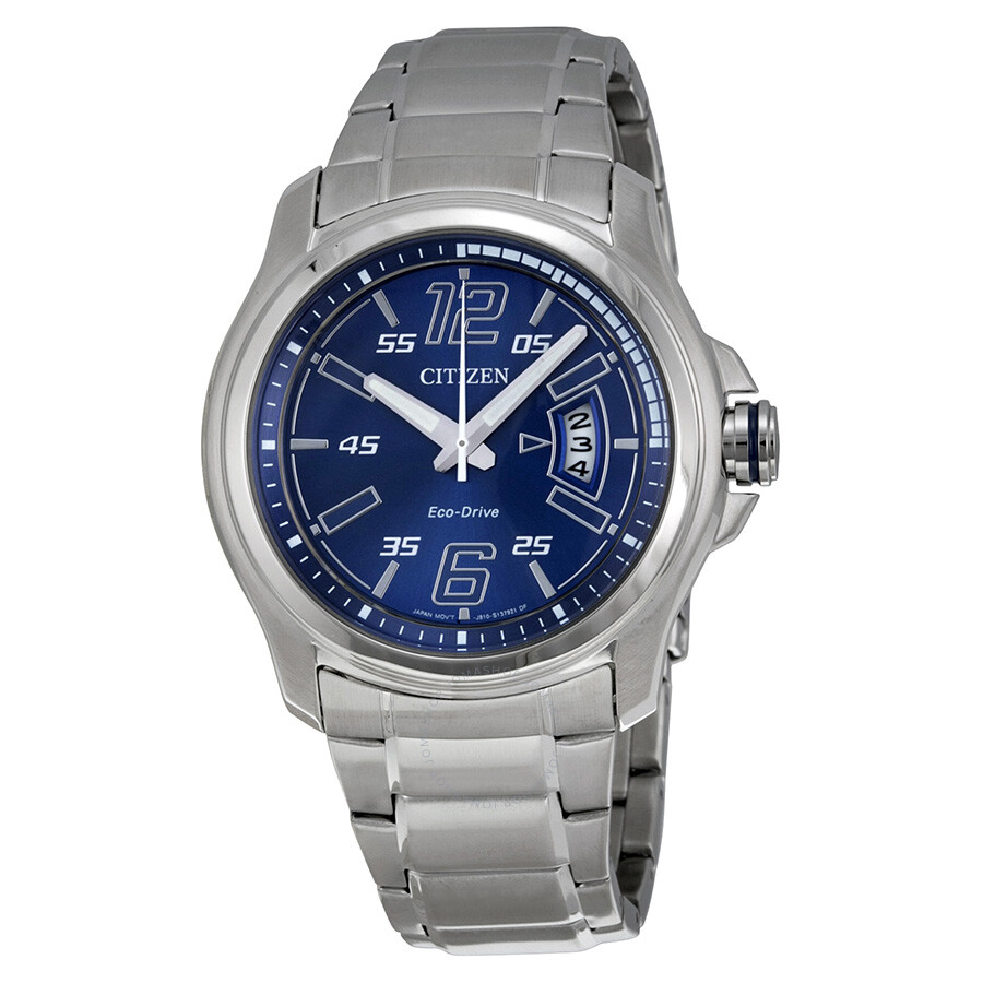 bc38be6080f Citizen Eco Drive Blue Dial Stainless Steel Men s Watch