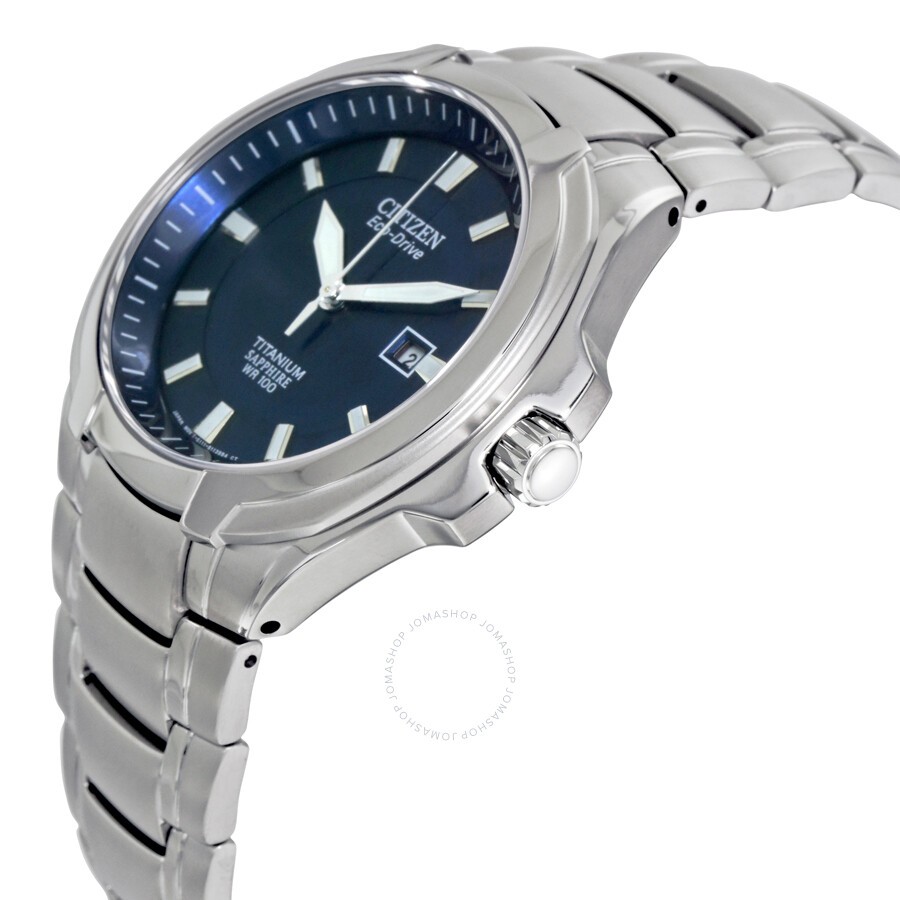 citizen eco drive blue titanium s bm7170