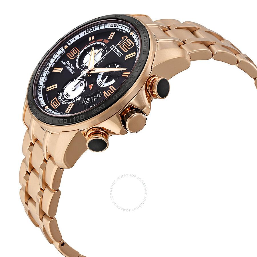 839a1beb8 ... Citizen Eco Drive Chrono Time A-T Black Dial Gold-tone Men's Watch  BY0108-50E ...