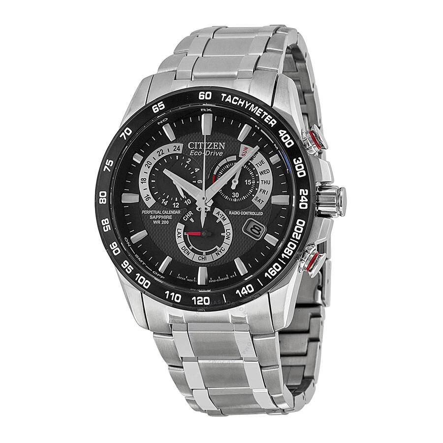 Citizen eco drive chronograph black dial men 39 s watch at4008 51e eco drive citizen watches for Citizen watches