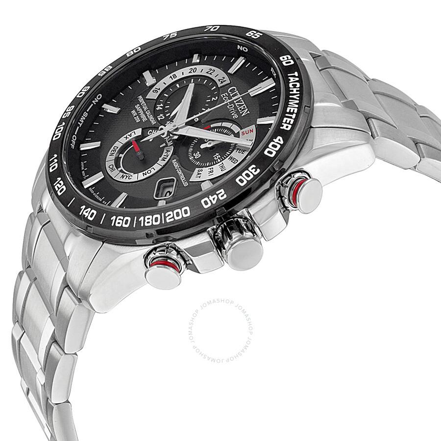 Citizen Eco Drive Chronograph Black Dial Men's Watch ...