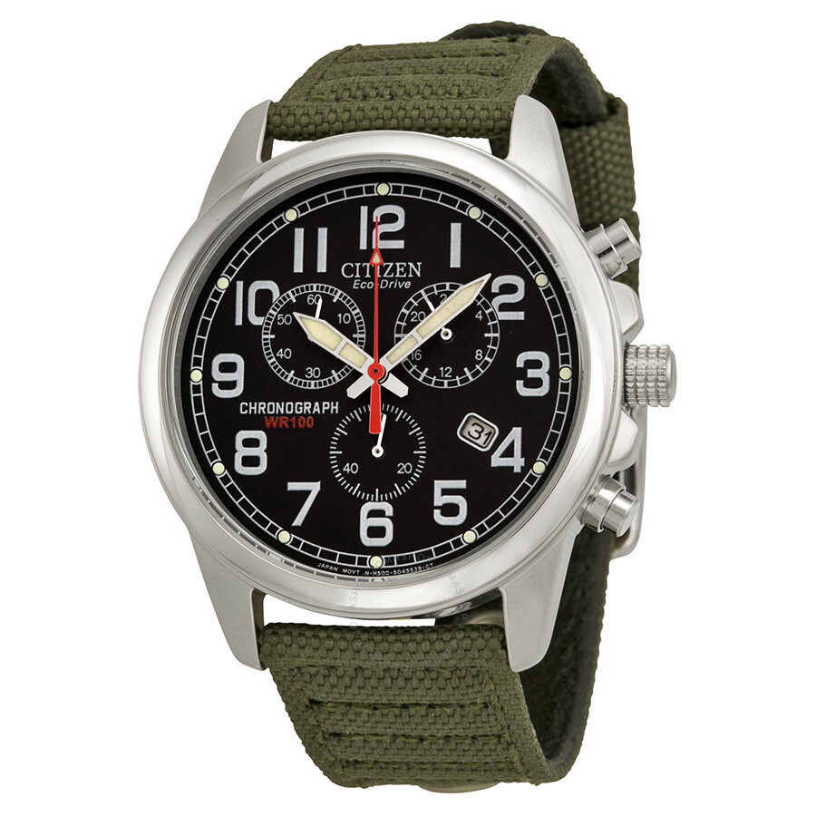 citizen eco drive chronograph black s
