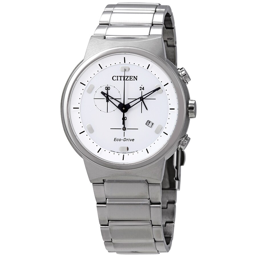 2046327aa54 Citizen Eco-Drive Chronograph White Dial Men s Watch AT2400-81A ...