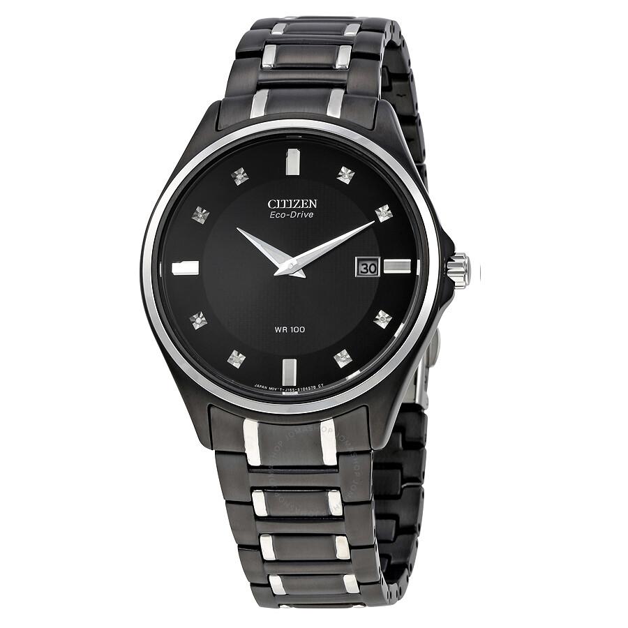 Citizen eco drive diamond men 39 s watch au1054 54g eco drive citizen watches jomashop for Citizen watches