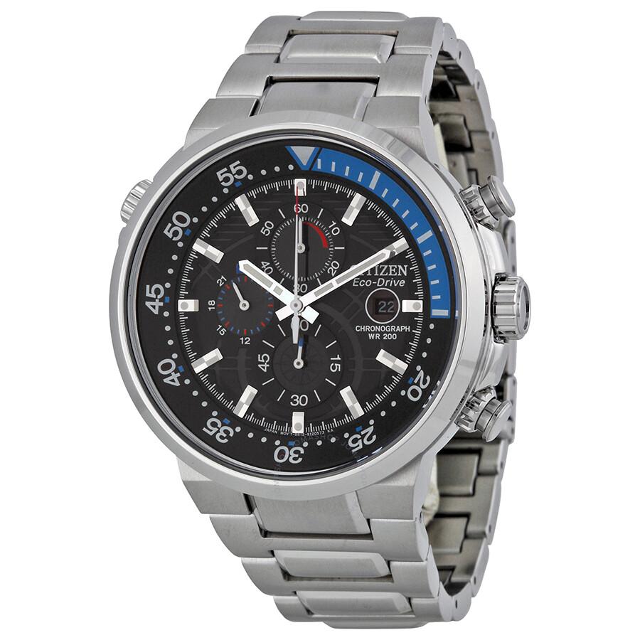 Citizen eco drive endeavor black dial men 39 s watch ca0440 for Citizen eco dive