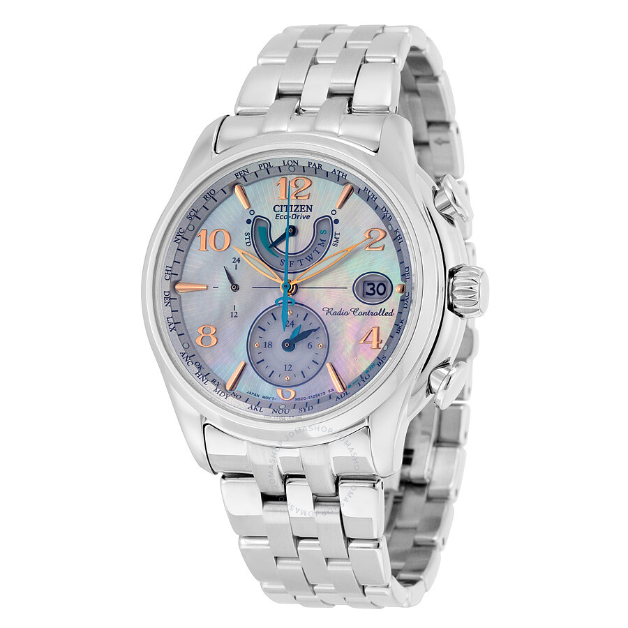 Citizen eco drive mother of pearl dial ladies watch fc0000 59d eco drive citizen watches for Mother of pearl dial watch