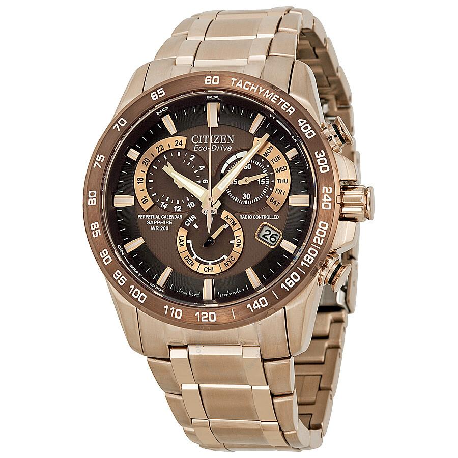 32144003ada9 Citizen Eco-Drive Perpetual Atomic Clock Synchronization Men s Watch  AT4106-52X ...