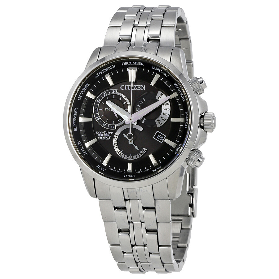 Citizen eco drive perpetual men 39 s watch bl8140 55e eco drive citizen watches jomashop for Eco drive watch