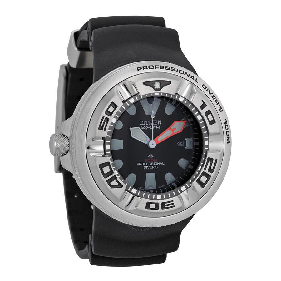 Citizen eco drive professional diver men 39 s watch bj8050 08e eco drive citizen watches for Eco drive watch