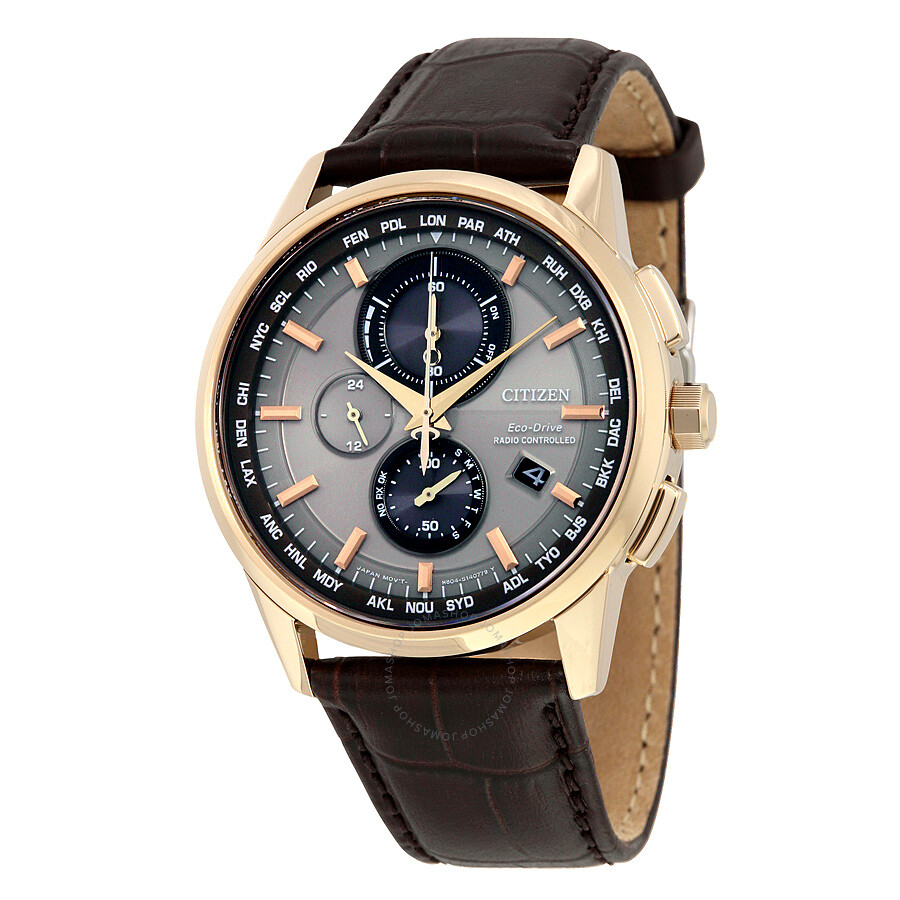 citizen eco drive world chronograph a t men s watch at8113 04h