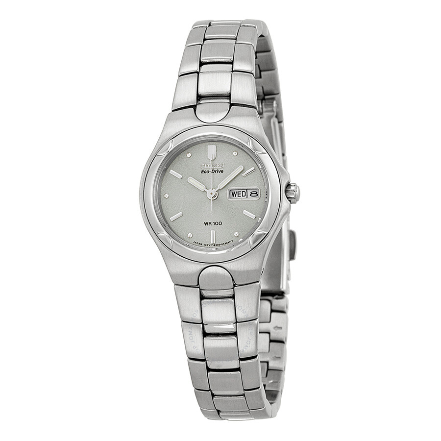 Citizen Eco-Drive Corso Grey Dial Stainless Steel Ladies Watch EW3030-50A  ...