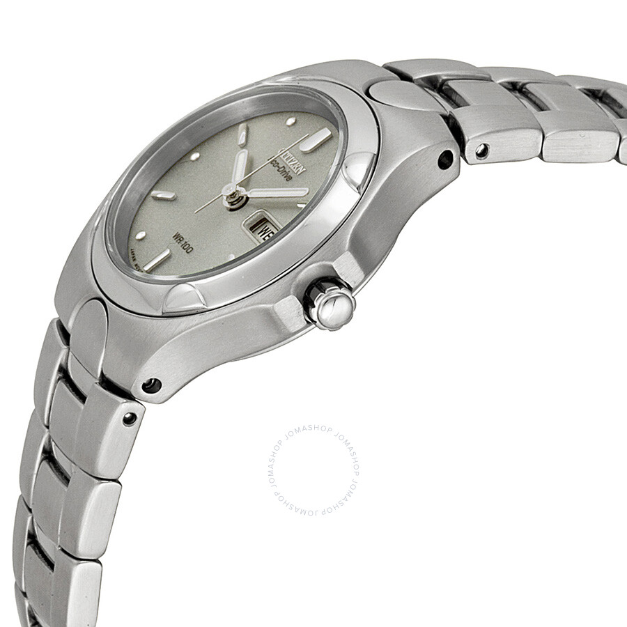 ... Citizen Eco-Drive Corso Grey Dial Stainless Steel Ladies Watch EW3030- 50A ...