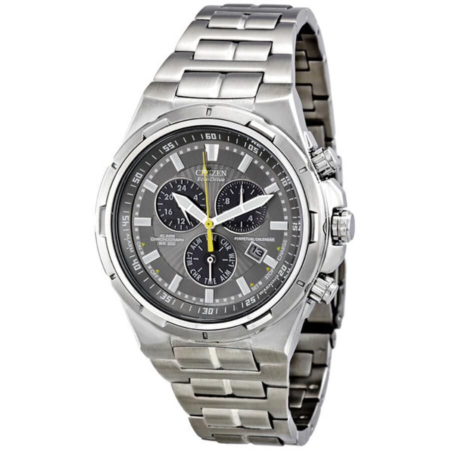 04e8de78d9ef6 Citizen Eco-Drive Perpetual Calendar Alarm Chronograph Men s Watch  BL5430-51H ...