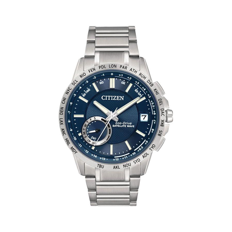 947dce6c64e Citizen Eco-Drive Satellite Wave Blue Dial Stainless Steel Men s Watch Item  No. CC3000-89L