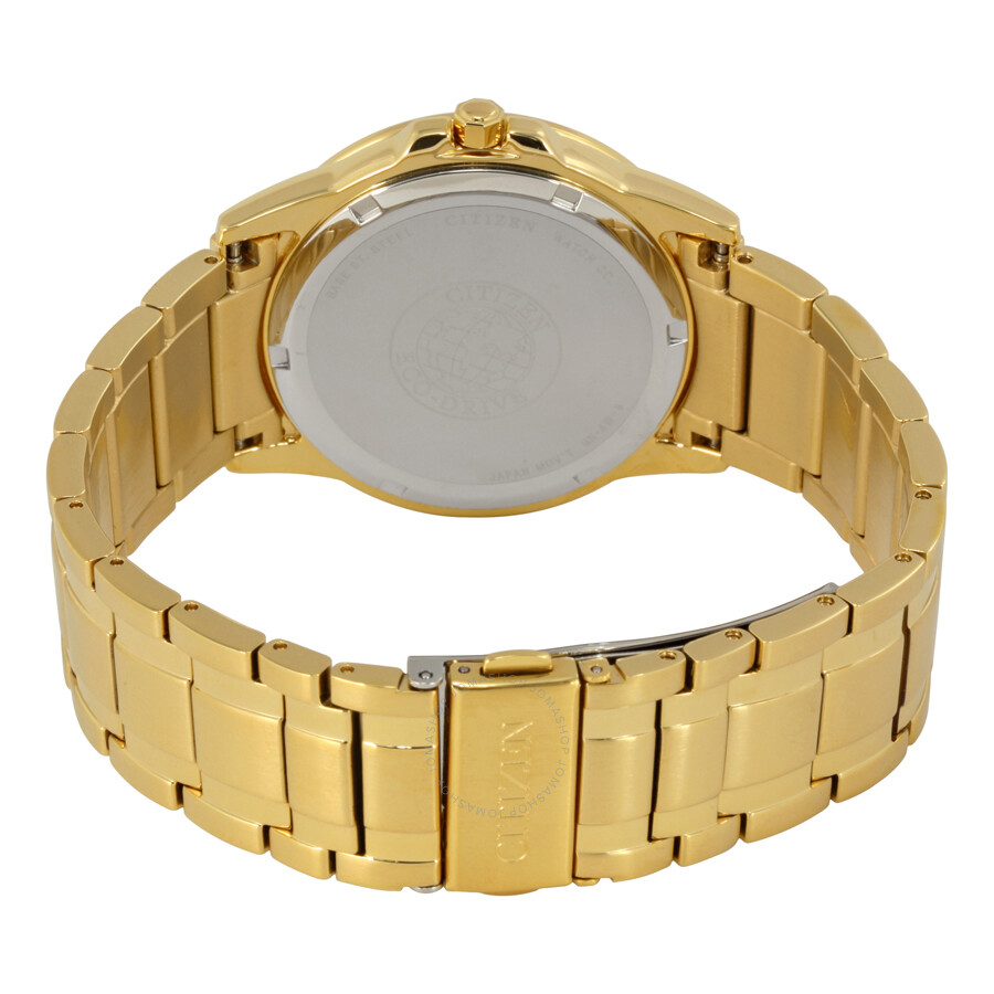 citizen eco drive white dial gold tone steel men s watch bm7262 citizen eco drive white dial gold tone steel men s watch bm7262 57a