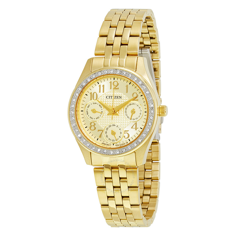 Citizen Gold Tone Ladies Multifunction Watch ED8132-55P ...
