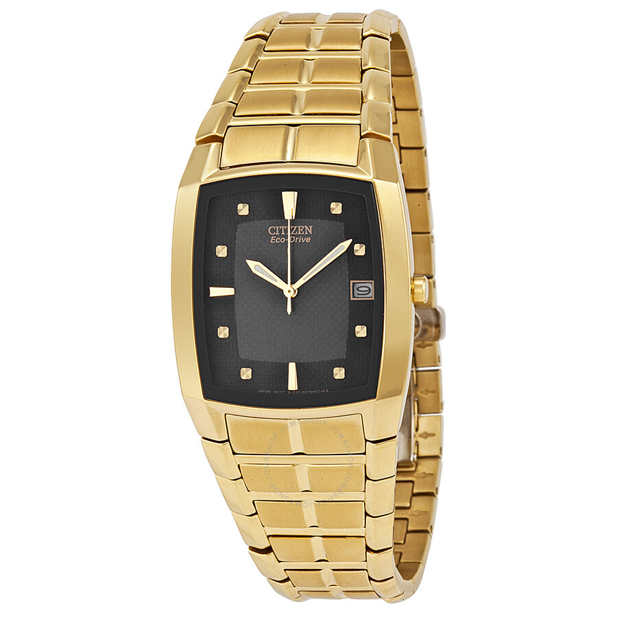 citizen s eco drive gold tone stainless steel