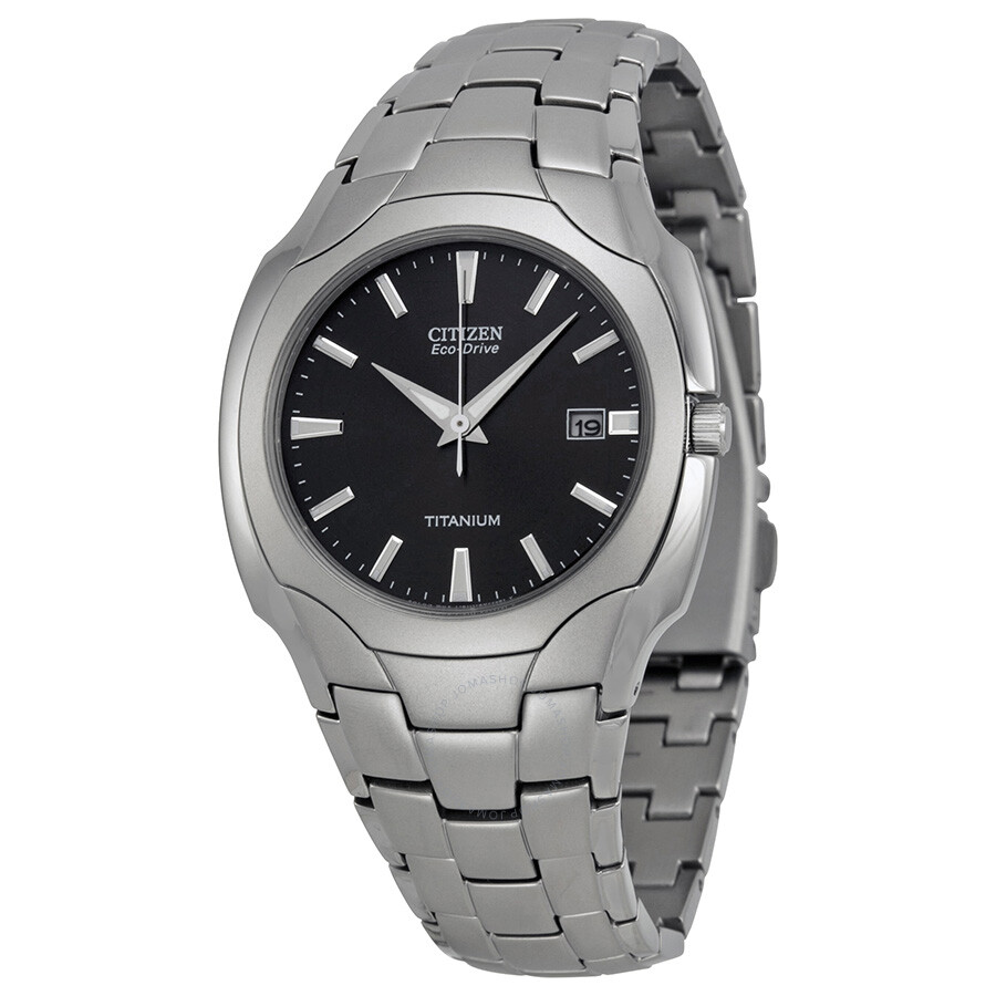 2b2ecb0eef4a Citizen Men s Eco Drive Black Dial Titanium Watch BM6560-54H - Eco ...