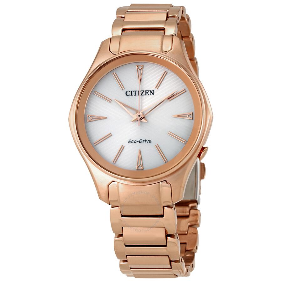 b864c932e2d087 Citizen Modena White Dial Rose Gold-tone Ladies Watch EM0593-56A ...