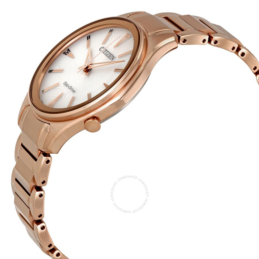 2dd69a8016e1f5 ... Citizen Modena White Dial Rose Gold-tone Ladies Watch EM0593-56A ...
