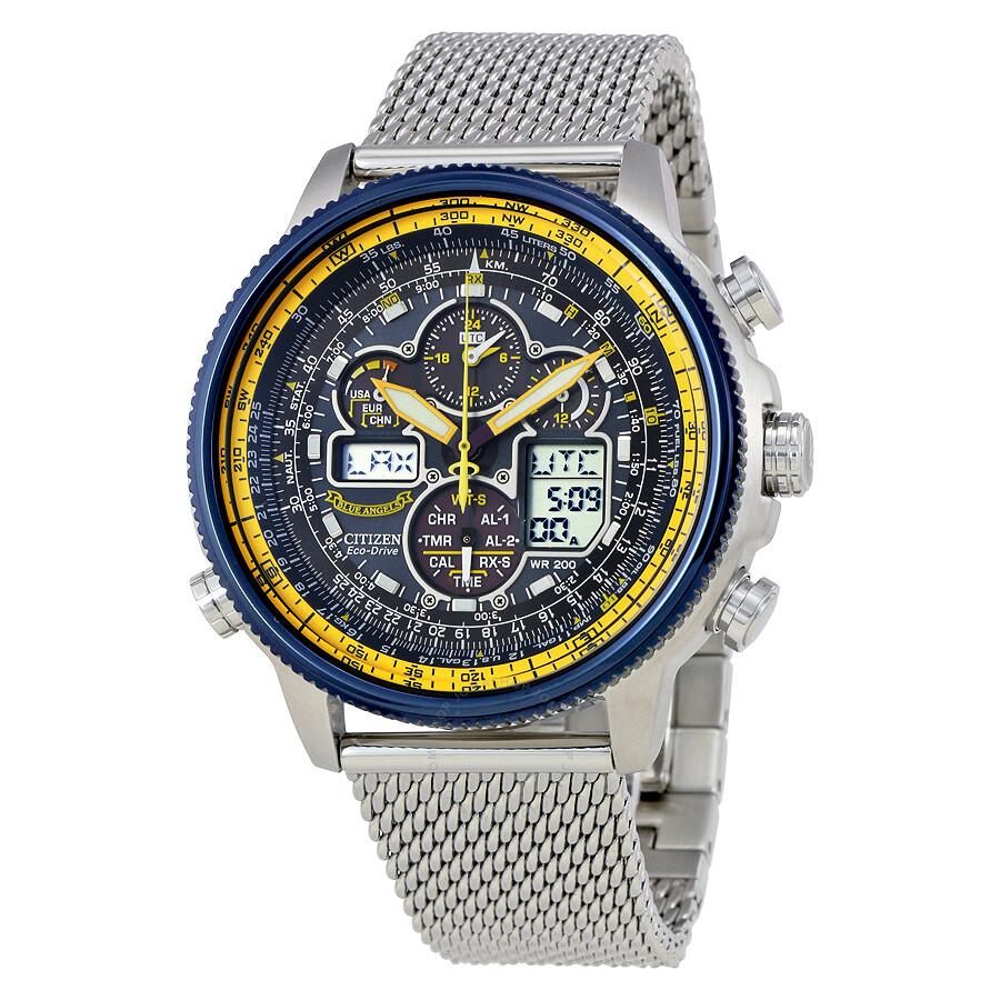 95a3e9258cdd6 Citizen Navihawk A-T Chronograph Perpetual Men s Watch JY8031-56L ...