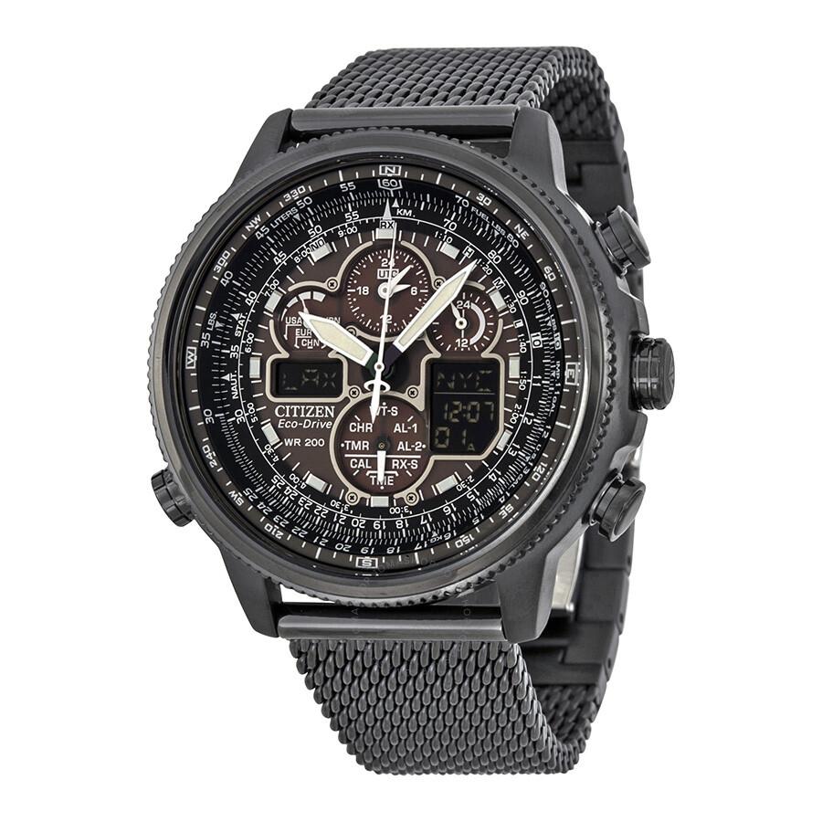 Citizen navihawk a t eco drive chronograph men 39 s watch for Citizen eco dive