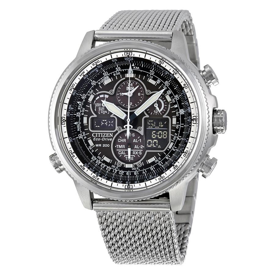 Citizen navihawk utc eco drive chronograph men 39 s watch jy8030 83e eco drive citizen for Eco drive watch