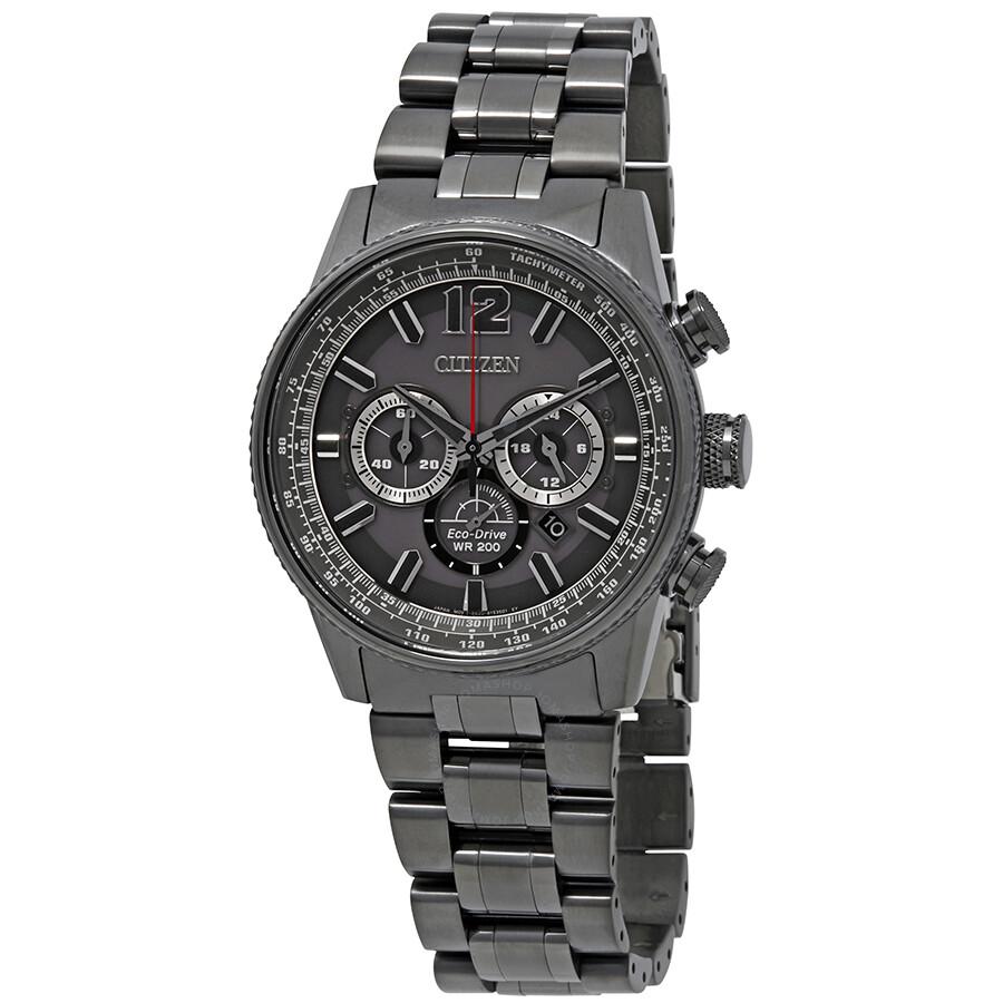38ed996dbf0 Citizen Nighthawk Chronograph Charcoal Grey Dial Men s Watch CA4377-53H ...