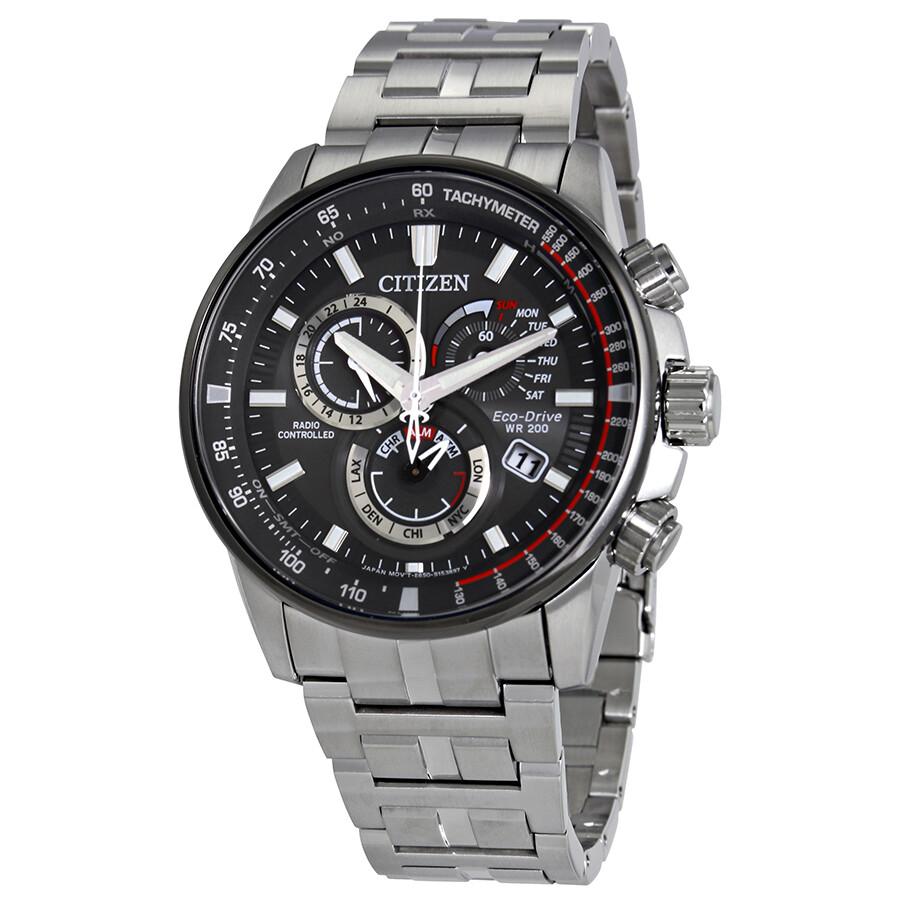 fbb28dcc9fb Citizen PCAT Dark Grey Dial Men s Chronograph Perpetual Calendar Watch  AT4129-57H ...