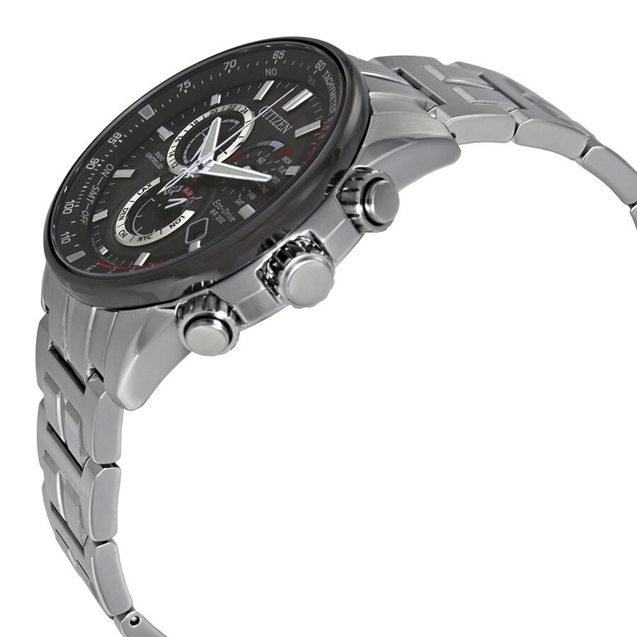 2888c78acba9 ... Citizen PCAT Dark Grey Dial Men s Chronograph Perpetual Calendar Watch  AT4129-57H ...