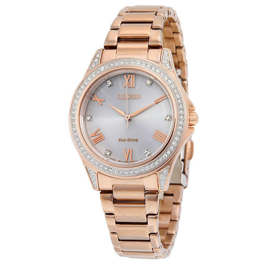 citizen eco drive gold tone stainless steel