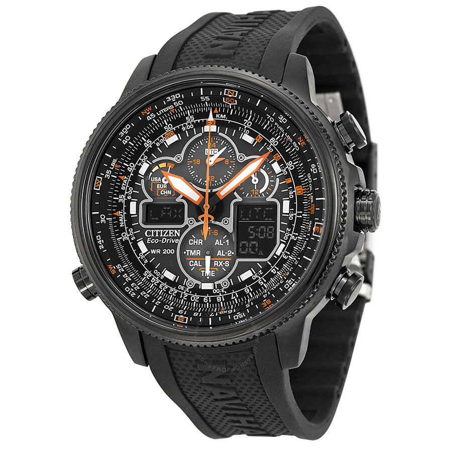 434178751ec Citizen Promaster Navihawk A-T Eco Drive Black Dial Men s Watch JY8035-04E  ...