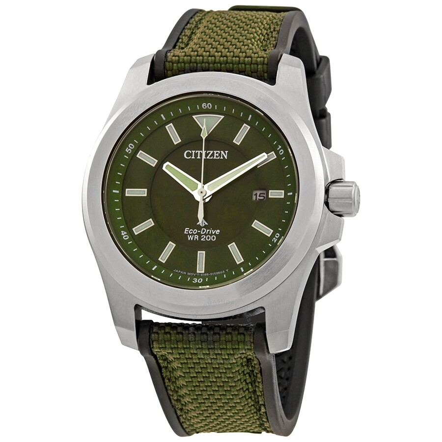 Citizen Promaster Tough Green Dial Green Fabric Men S Watch Bn0211 09x