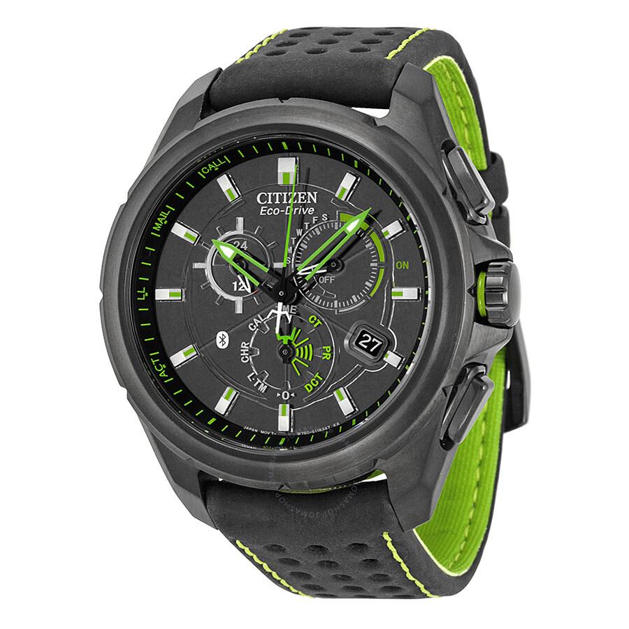 Citizen proximity eco drive black dial leather men 39 s watch at7035 01e eco drive citizen for Citizen watches