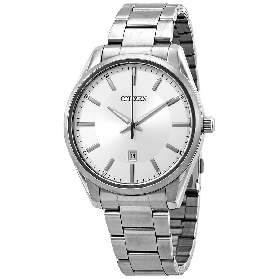 Citizen Quartz Silver Dial Men S Watch Bi1030 53a Bi1030 53a Watches Citizen Jomashop
