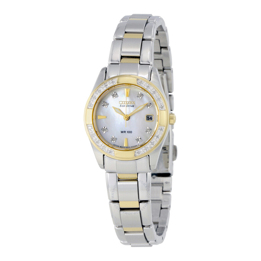 Citizen Regent Eco-Drive Mother of Pearl Dial Ladies Watch EW1824-57D ... 2e86e7b1a