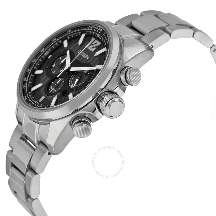 2937d84d9 ... Citizen Shadowhawk Eco-Drive Chronograph Black Dial Stainless Steel  Men's Watch CA4170-51E ...