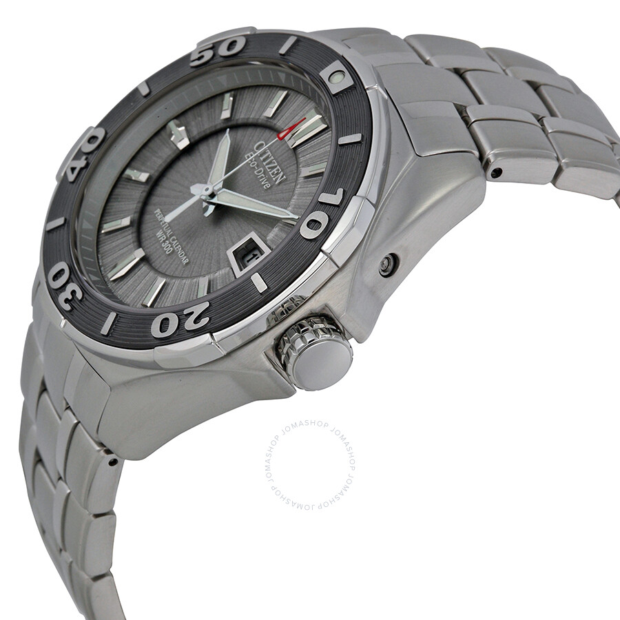 Citizen Signature Eco-Drive Silver Dial Stainless Steel Men's Watch  BL1257-56A