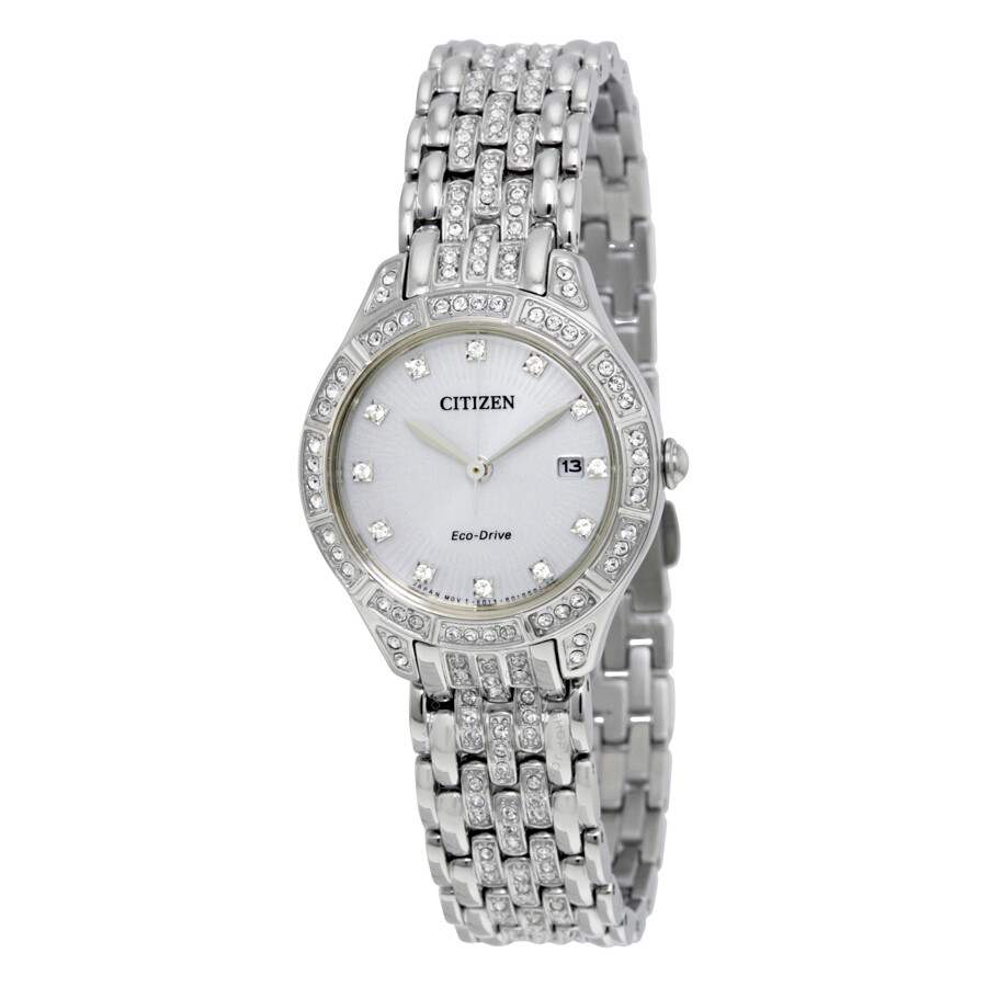 Citizen Silhouette Crystal Silver Dial Ladies Watch EW2320-55A ... aff7a071e1
