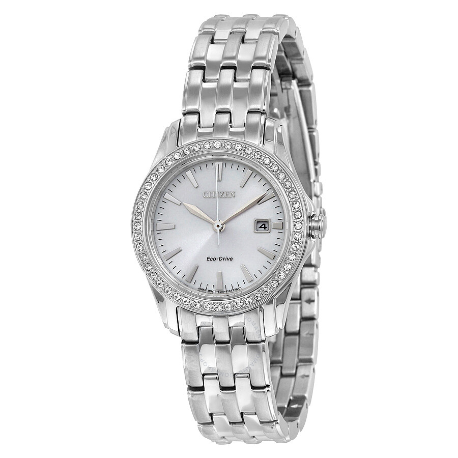 Citizen Silhouette Crystal Silver Dial Ladies Watch EW1901-58A ... 968b09e222