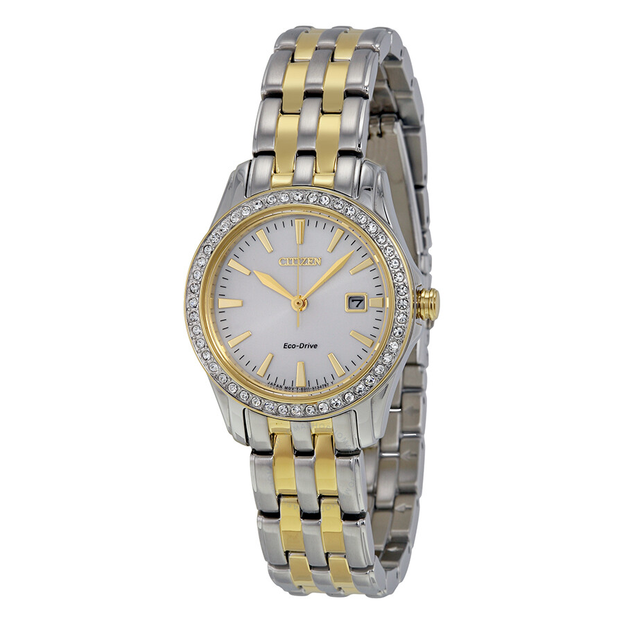 dcd80694aee5ed Citizen Silhouette Crystal Silver Dial Ladies Watch EW1908-59A ...