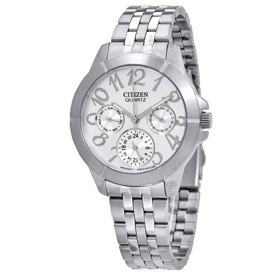 Citizen Silver Dial Multi-Function Silver Dial Ladies Watch ED8100-51A ... c7872ef3fb